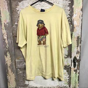Polo | Rare Yellow Beach Bear Shirt Size XXL